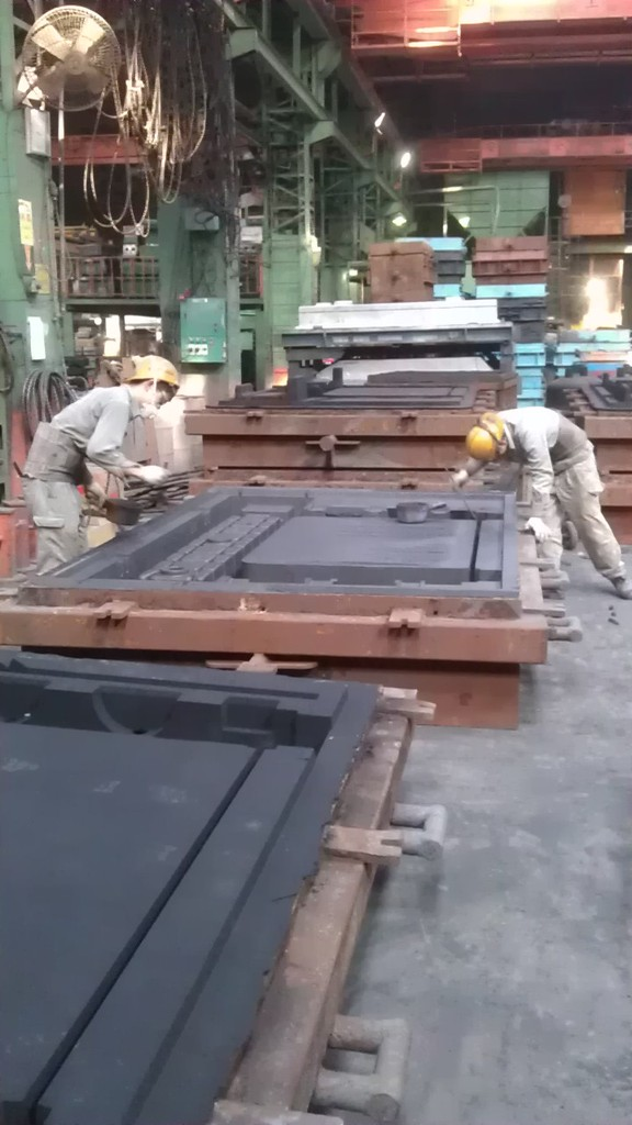 Preparation of the sand mould