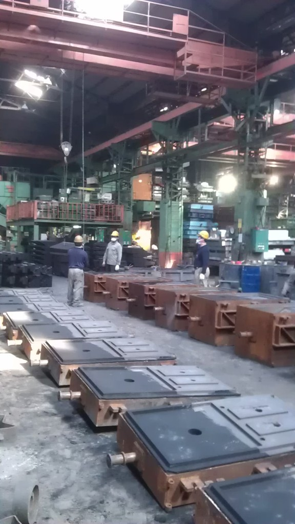 Rows of sand mould
