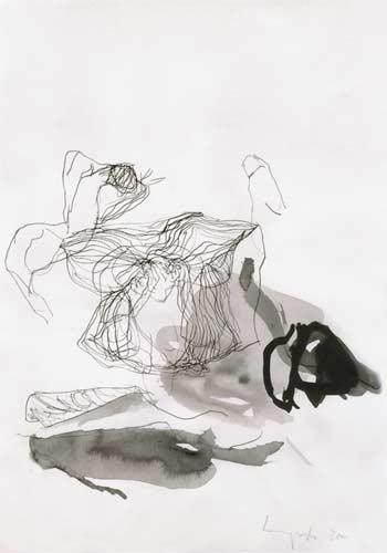 Achte Erinnerung, 2000, Tusche auf Papier, 50x35cm