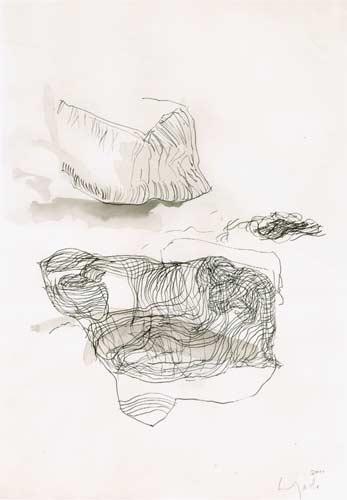 Zweite Erinnerung, 2000, Tusche auf Papier, 50x35cm