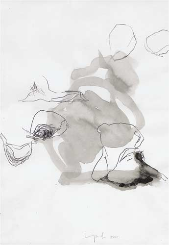 Fünfte Erinnerung, 2000, Tusche auf Papier, 50x35cm