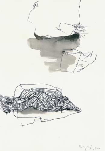 Sechste Erinnerung, 2000, Tusche auf Papier, 50x35cm