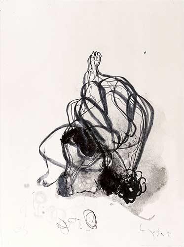 Tuschezeichnung, 1993, Tusche, Schwarzstift, 62,5x42 cm