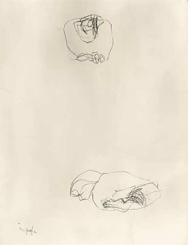 Kohlezeichnung, 1995, 60x80cm