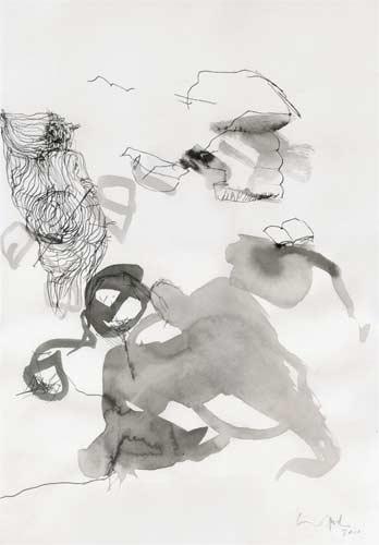 Dritte Erinnerung, 2000, Tusche auf Papier, 50x35cm