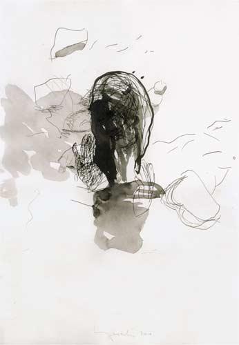 Erste Erinnerung, 2000, Tusche auf Papier, 50x35cm