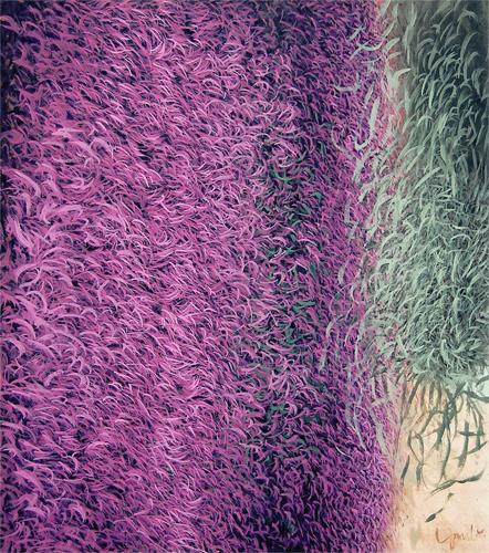 Erinnerung an eine Landschaft, 2008, Acryl auf Leinwand, 90x80cm