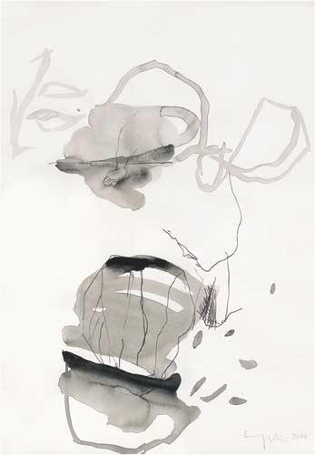 Siebte Erinnerung, 2000, Tusche auf Papier, 50x35cm