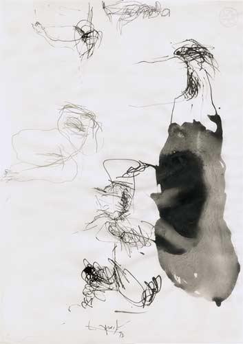 Neunte Erinnerung, 2000, Tusche auf Papier, 50x35cm