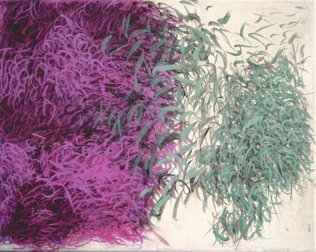 Meere, 2010, Acryl auf Leinwand, 50x40cm