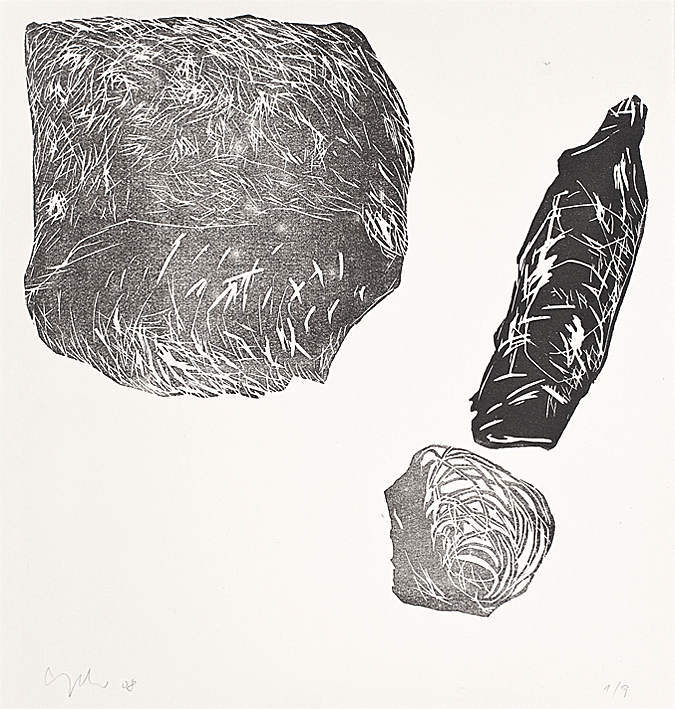 Kreislauf sich verändernder Naturen, 2008, Tableau aus 9 Blättern, je 47x42cm, gesamt ca. 150x150cm
