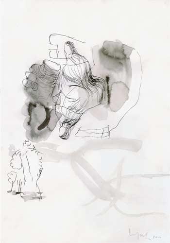 Vierte Erinnerung, 2000, Tusche auf Papier, 50x35 cm