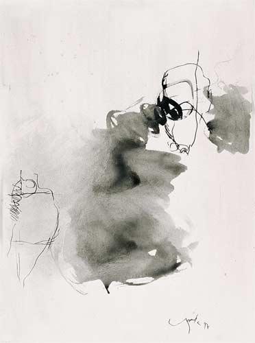 Tuschezeichnung, 1995, 53,5x39 cm