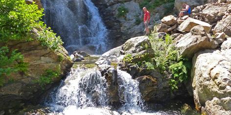 Kalabrien wandern zum Wasserfall