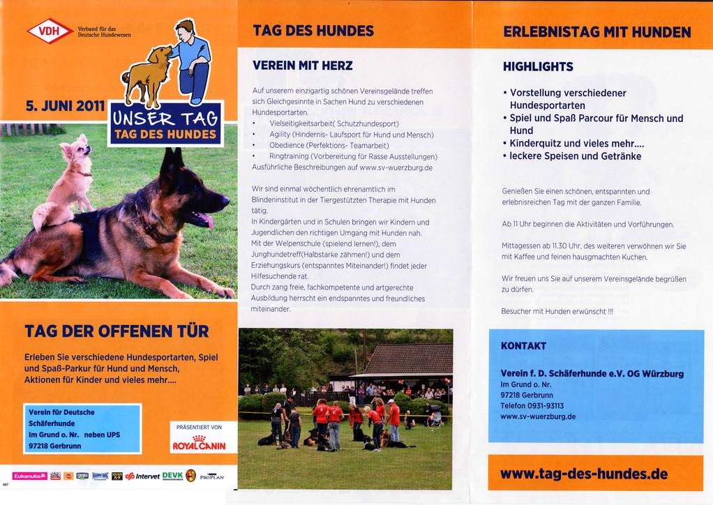 Unsere Flyer zum Tag des Hundes