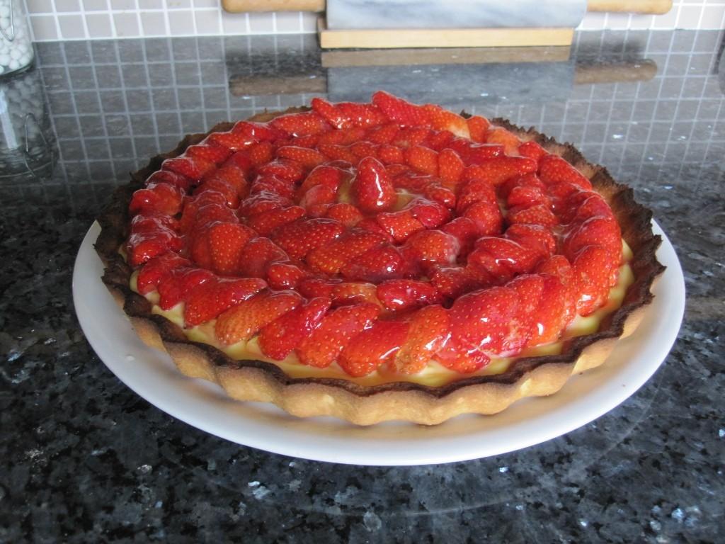 Tarte aux fraises du jardin.