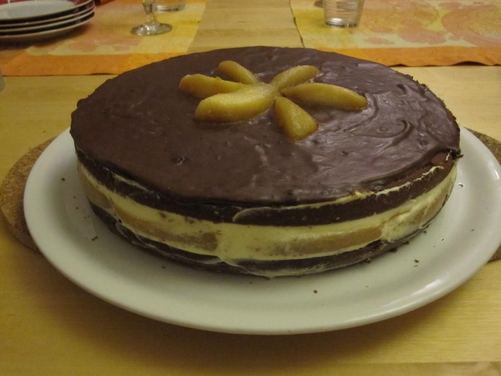 Gâteaux aux poires du jardin rôties et caramélisées.