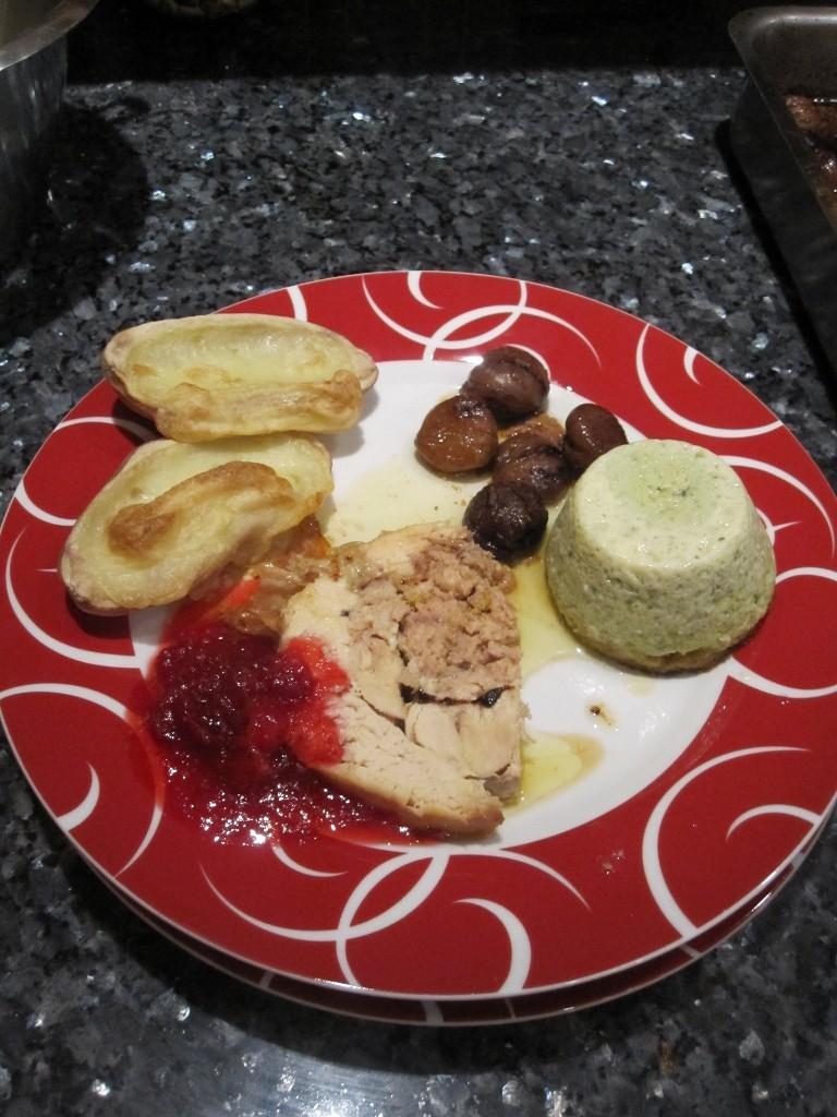 Une assiette servie pour Noël 2012.