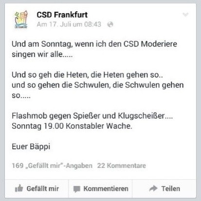 Screeenshot facebook.com/CsdFrankfurt