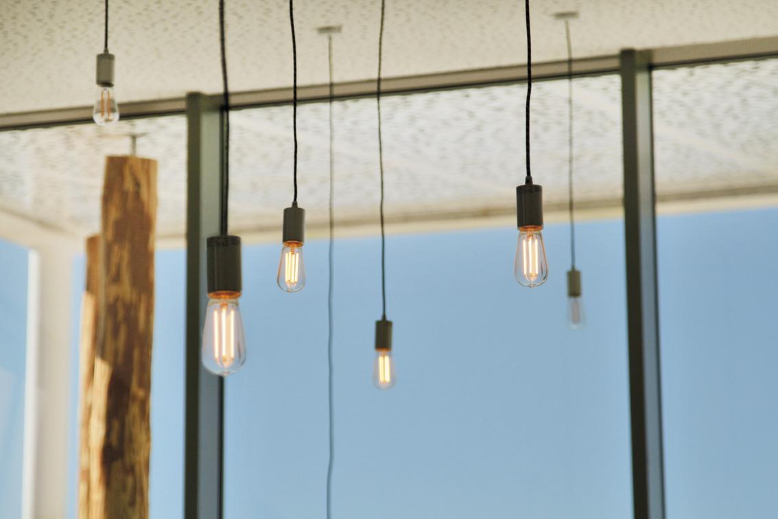 Le plafond lumineux de l'Espace des retrouvailles