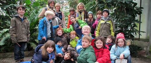 """Die Kindergruppe Alte Ziegelei zur Besuch in der """"Grünen Schule"""" in Mainz"""