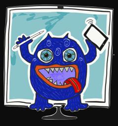 Technik Monster hält Dich in Schach