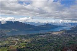 Lac du Bourget vu de la croix du Nivolet
