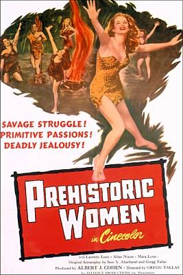 """Plakat für den Film """"Amazonen des Urwalds"""" (Prehistoric Women, USA 1950)"""