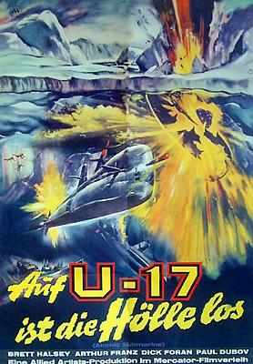 """Kinoplakat zum Film """"Auf U-17 ist die Hölle los"""" (The Atomic Submarine, USA 1959) von Spencer Gordon Bennett"""