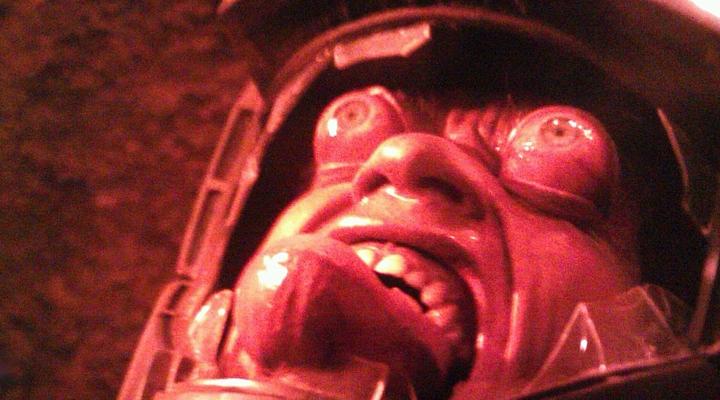 """Szenenfoto aus dem Film """"Total Recall"""" (USA 1990) von Paul Verhoeven; Makeup von Rob Bottin"""