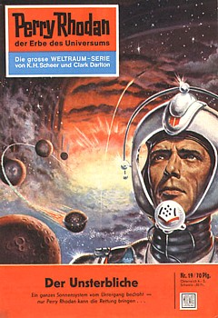 Cover eines Perry Rhodan Heftchens (Nr. 19)