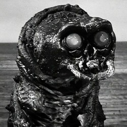 "Szenenbild aus dem Film ""The Monster that Challenged the World"" (USA 1957)"