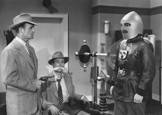 "Szenenfoto aus dem Serial ""King of the Rocket Men"" (USA 1949) von Fred C. Bannon; Dale van Sickel und House Peters Jr."