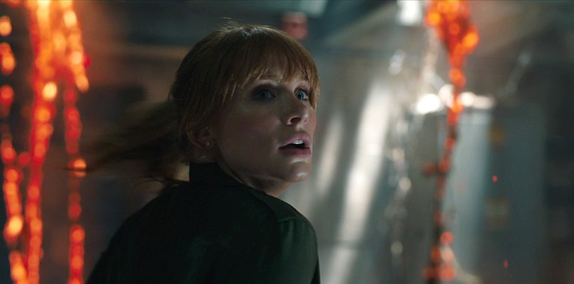 "Szenenfoto aus dem Film ""Jurassic World: Das gefallene Königreich"" (Jurassic World: Fallen Kingdom, USA 2018); Bryce Dallas Howard"