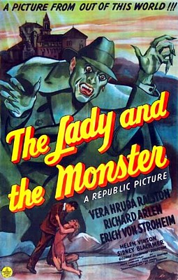 "Filmplakat zu dem Film ""The Lady and the Monster"" (USA 1944) von George Sherman"