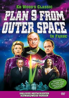 """DVD-Cover zu dem Film """"Plan 9 aus dem Weltall"""" (Plan 9 from Outer Space, USA 1959) von Edward D. Wood Jr."""