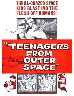 Teenagers from Outer Space (USA 1959) Plakatmotiv