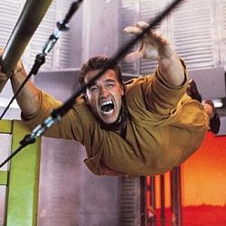"Szenenfoto aus dem Film ""Total Recall"" (USA 1990) von Paul Verhoeven; Arnold Schwarzenegger"