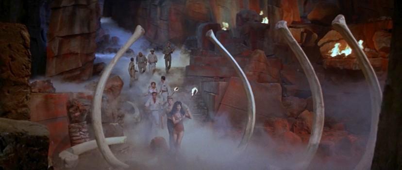 """Szenenfoto aus dem Film """"Versunkene Welt"""" (The Lost World, USA 1960) von Irwin Allen"""