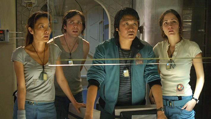 "Szenenfoto aus dem Film ""Sunshine"" (GB 2007) von Danny Boyle; Michelle Yeoh, Cillian Murphy, Hiroyuki Sanada, Rose Byrne"