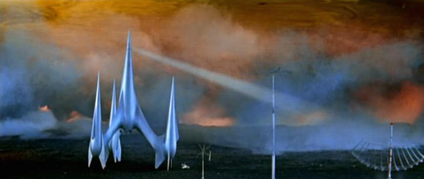 """Das Raumschiff Kosmokrator I auf der Venus in dem Film """"Der schweigende Stern"""" (DDR/Polen 1960) von Kurt Maetzig"""