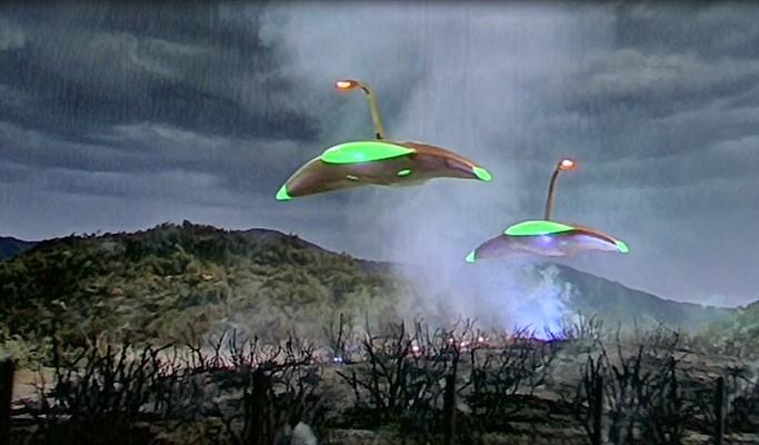 """Die marsianischen Kampfmaschinen aus dem Film """"Kampf der Welten"""" (The War of the Worlds, USA 1953)"""