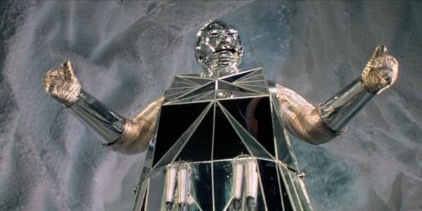 Flucht ins 23. Jahrhundert (Logan's Run) Szenenbild von Box, dem Roboter in der Eishöhle