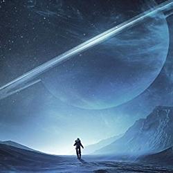 """Ausschnitt vom Buchcover zu dem Roman """"Enceladus"""" (2017) von Brandon Q. Morris (d. i. Matthias Matting)"""