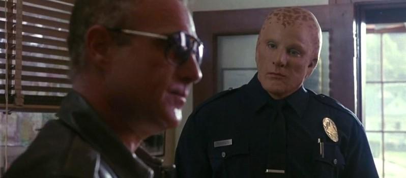 """Szenenfoto aus """"Space Cop L.A. 1991"""" (Alien Nation, USA 1988) von Graham Baker; James Caan und Mandy Patinkin"""