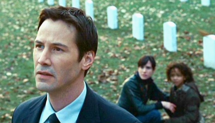 """Szenenfoto aus dem Film """"Der Tag, an dem die Erde stillstand"""" (The Day the Earth Stood Still, USA 2008) mit Keanu Reeves"""