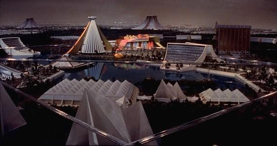 Flucht ins 23. Jahrhundert (Logan's Run) Szenenbild von dem Modell der Stadt der Zukunft
