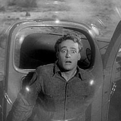"Szenenfoto aus ""Gefahr aus dem Weltall"" (It Came from Outer Space, USA 1953); Russell Johnson"
