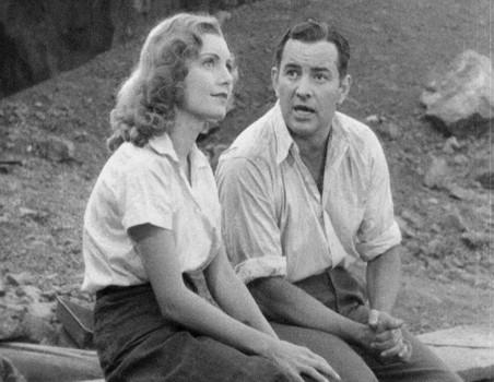 """Szenenfoto zu dem Film """"Deluge"""" (USA 1933) von Felix E. Feist; Peggy Shannon und Sidney Blackmer"""