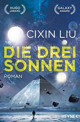 """Buchcover des Romans """"Die drei Sonnen"""" (2017) von Liu Cixin"""
